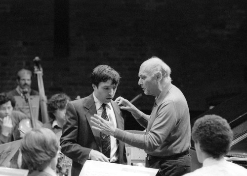 rehearsal with Solti