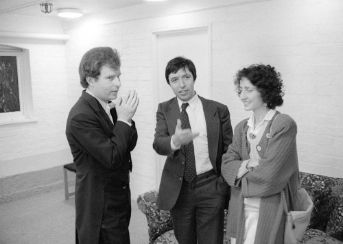 with Andras Schiff backstage